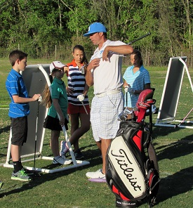 Photo of a Junior golf clinic
