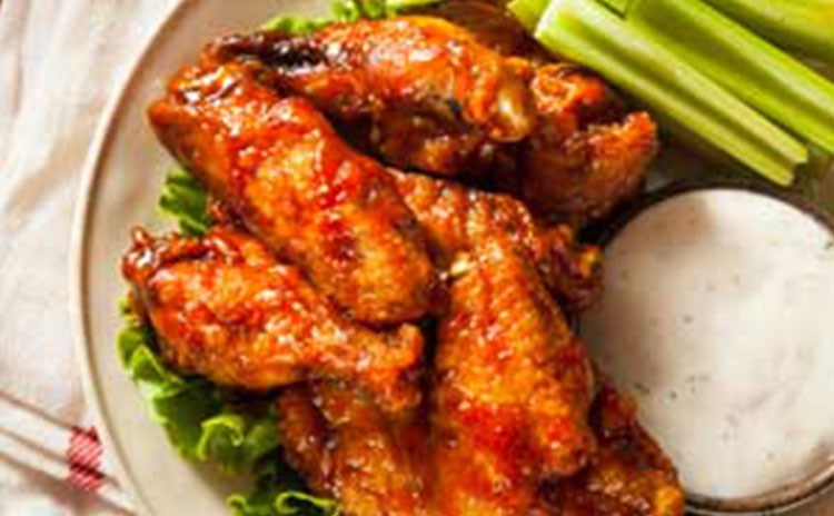 Plate of wings